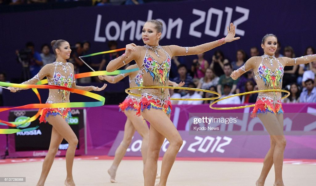 LONDON, Britain - Members of the Russian team perform with