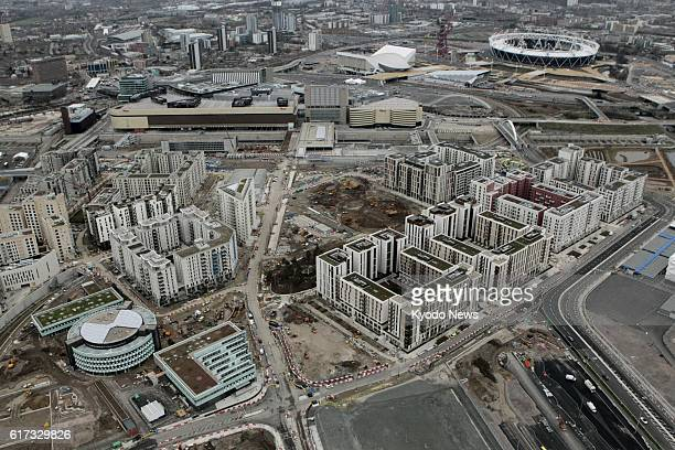 LONDON Britain Photo taken from a helicopter on Jan 8 shows the Olympic and Paralympic Village where athletes and officials from around the world...