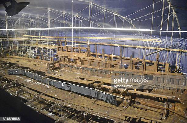 LONDON Britain Photo taken in May 2013 shows the Mary Rose a British warship that sank in the 16th century and was hauled out of the seabed in 1982...