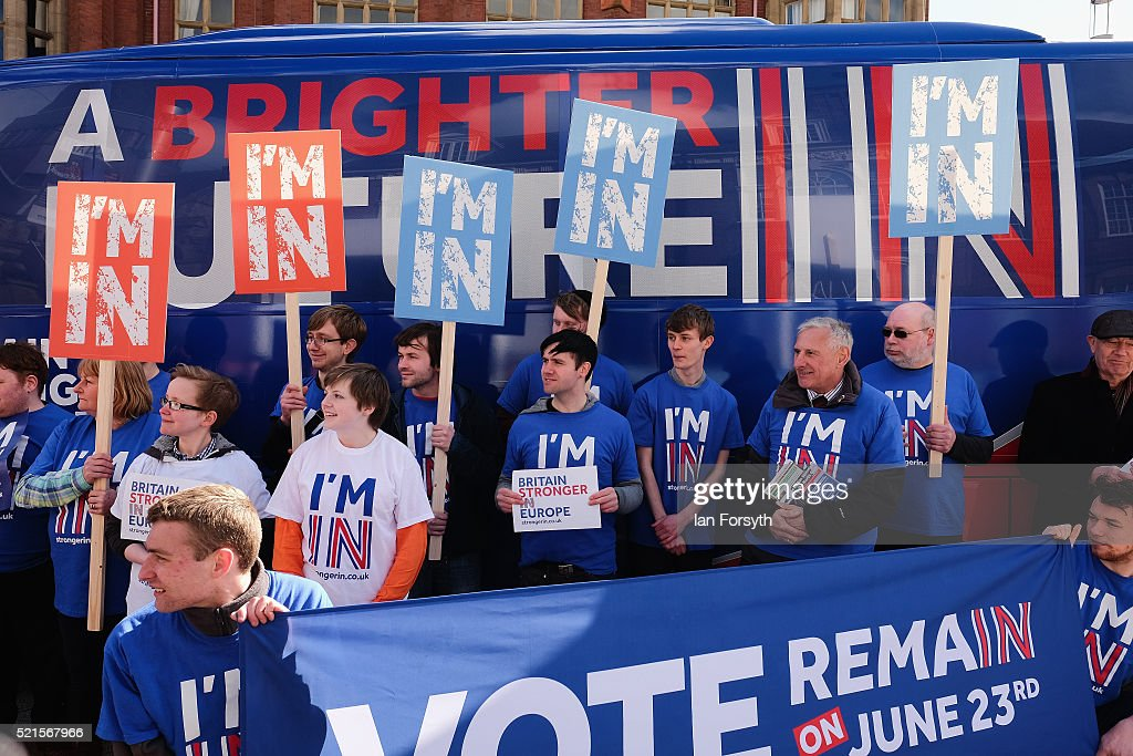 Stronger In Campaign Bus Continues The Brighter Future Tour : News Photo