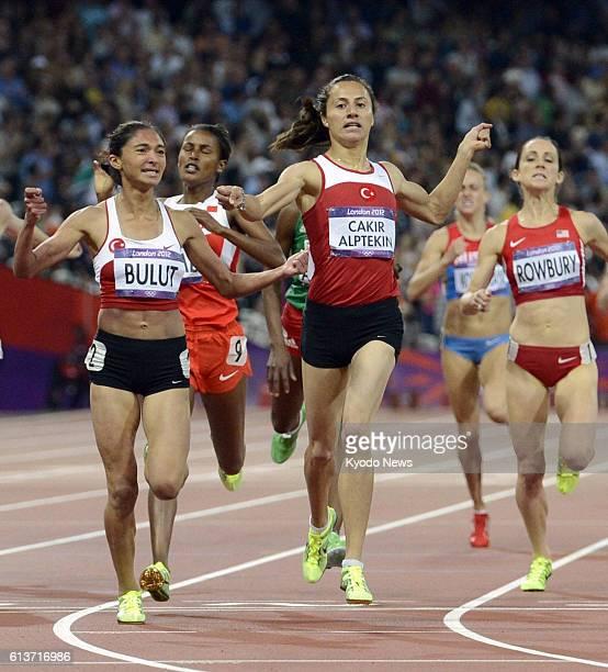 LONDON Britain Turkey's Asli Cakir Alptekin wins the gold in the women's 1500 meters at the Olympic Stadium at the 2012 London Olympics on Aug 10...