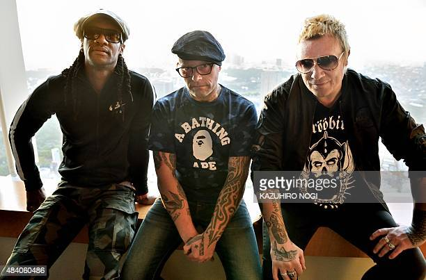 BritainmusicProdigyJapanentertainmentINTERVIEW by Alastair HIMMER This photo taken on August 13 2015 shows members of the British band The Prodigy...