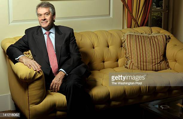 Britain's Ambassador to the United States Sir Peter John Westmacott photographed at the British Embassy in Washington, D.C. On March 07, 2012 Sir...