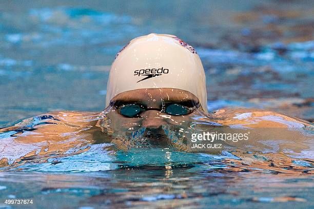 Britain's Andrew Willis competes in the preliminary of the men's 200m breaststroke at the 18th European Short Course Swimming Championship in the...