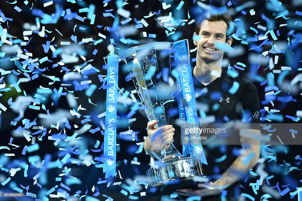 TOPSHOT-TENNIS-GBR-ATP-FINALS-TROPHY : News Photo