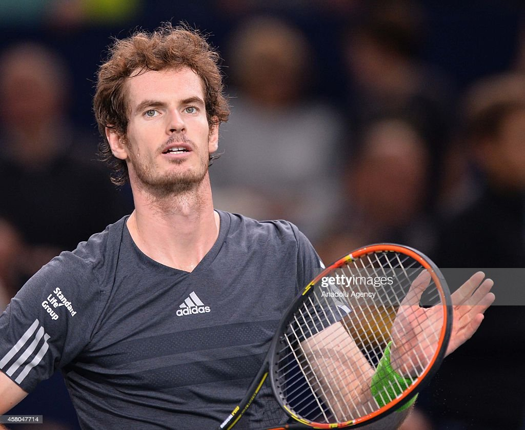 BNP Paribas Masters Tennis Tournament: Andy Murray v Julien Benneteau : News Photo
