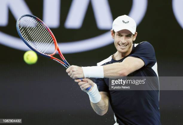 Britain's Andy Murray plays against Roberto Bautista Agut of Spain in the first round of the Australian Open in Melbourne on Jan 14 2019 After losing...