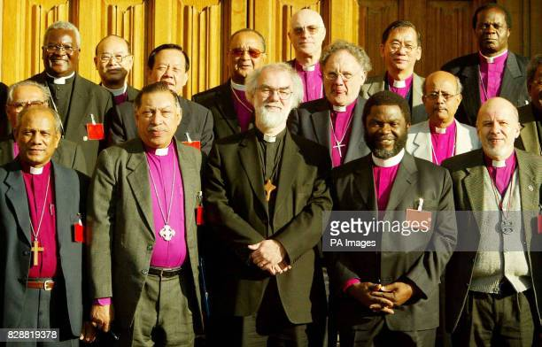 Britain's Archbishop of Canterbury Dr Rowan Williams poses for a photograph with Anglican Primates at Lambeth Palace in London. They are Archbishop...