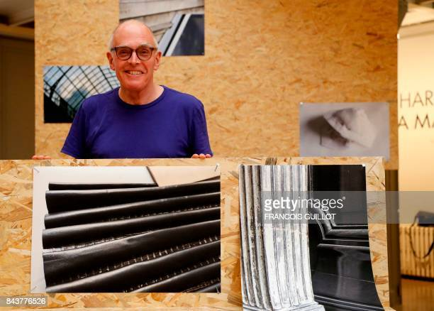 Britain's artist Richard Wentworth poses during an exposition of his photographic work on fashion design on September 7, 2017 at the Maison Alaia in...