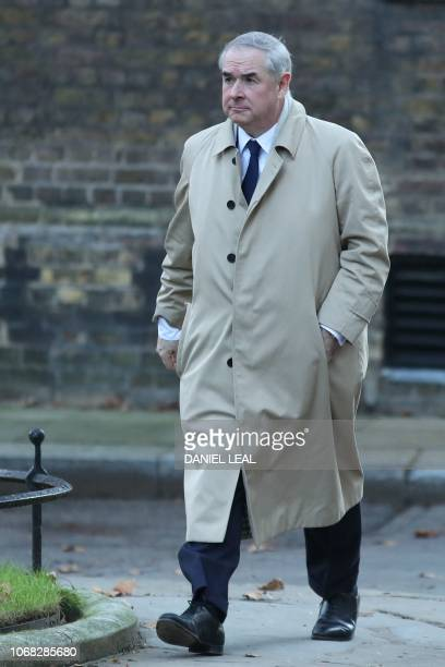 Britain's Attorney General Geoffrey Cox arrives to attend the weekly meeting of the cabinet at 10 Downing Street in London on December 4 2018