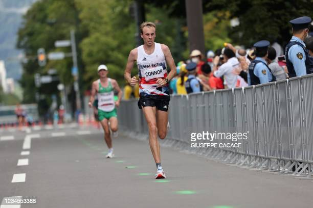 Britain's Ben Connor competes in the men's marathon final during the Tokyo 2020 Olympic Games in Sapporo on August 8, 2021.