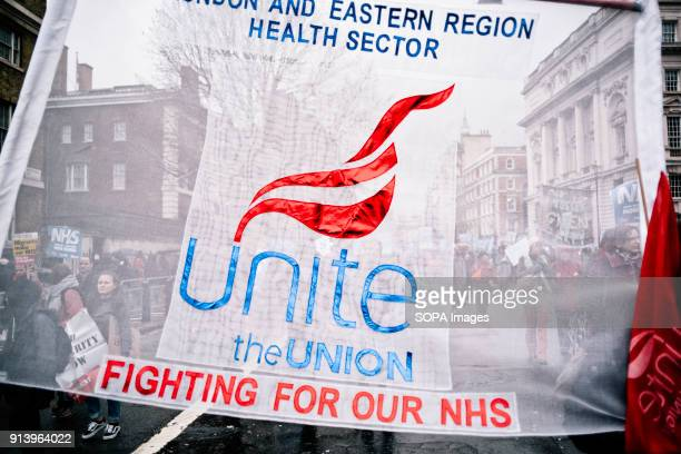 Britain's biggest trade union 'Unite' lends its support Thousands of demonstrators amassed in London on Saturday to garner support for higher NHS...