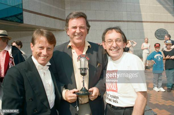 Britain's breakfast radio presenters line up at the ICC Birmingham Left to right Tony Wadsworth Terry Wogan and Les Ross 12th July 1994