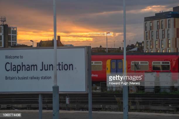 Britain's Busiest Railway Station at Sunrise