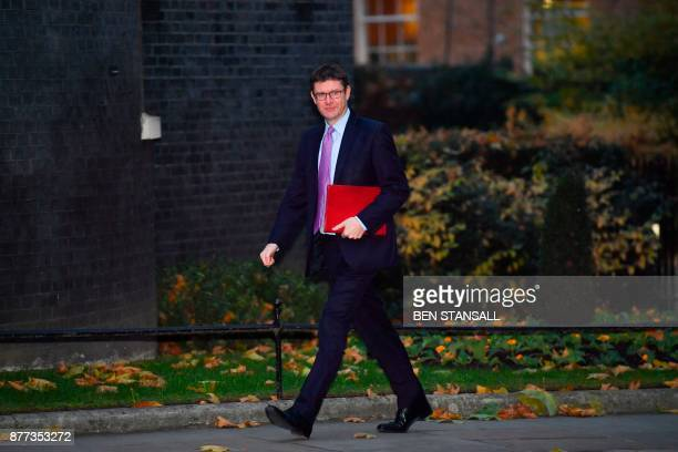 Britain's Business Energy and Industrial Strategy Secretary Greg Clark arrives at 10 Downing Street for a prebudget meeting of the cabinet in London...