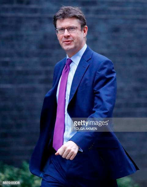 Britain's Business Energy and Industrial Strategy Secretary Greg Clark arrives to attend the weekly meeting of the Cabinet at 10 Downing Street in...
