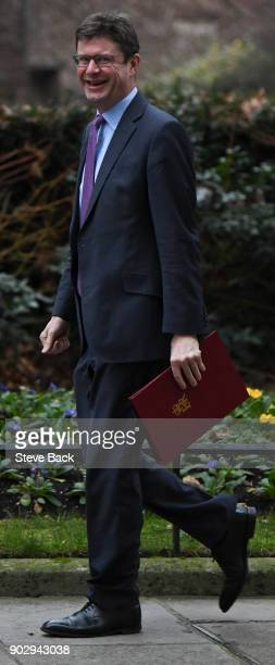 Britain's Business Energy and Industrial Strategy Secretary Greg Clark arrives at 10 Downing street in central London for the first cabinet meeting...
