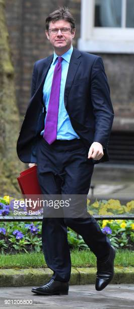 Britain's Business Energy and Industrial Strategy Secretary Greg Clark arrives at the weekly cabinet meeting in 10 Downing street on February 20 2018...