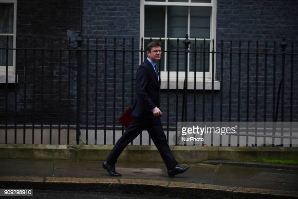 Britain's Business Secretary Greg Clark leaves after attending the weekly cabinet meeting at number 10 Downing Street in central London on Janaury 23...