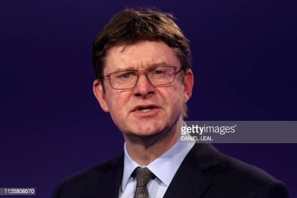 Britain's Business Secretary Greg Clark speaks during the National Manufacturing Conference in London on February 19 2019 Honda's decision to shut...