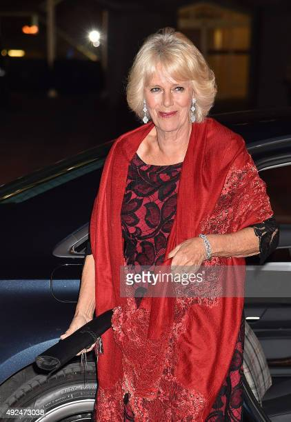 Britain's Camilla Duchess of Cornwall arrives at the Guildhall in central London on October 13 to present the 2015 Man Booker Prize for Fiction award...