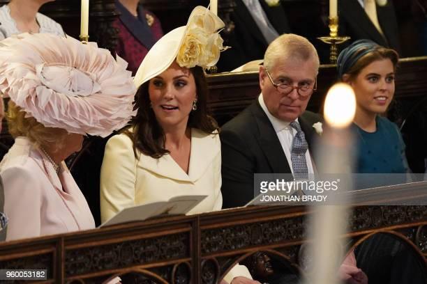 Britain's Camilla Duchess of Cornwall Britain's Catherine Duchess of Cambridge Britain's Prince Andrew Duke of York and Britain's Princess Beatrice...