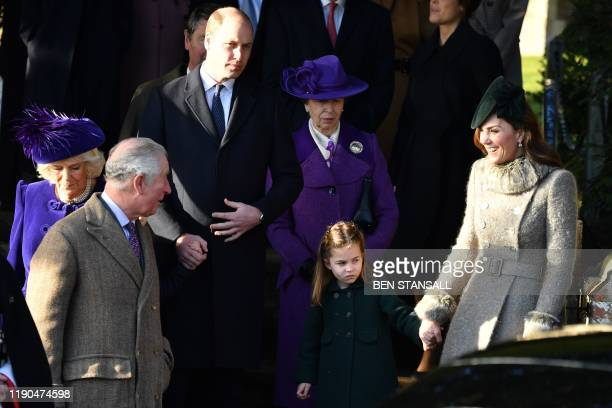 Britain's Camilla, Duchess of Cornwall, Britain's Prince Charles, Prince of Wales, Britain's Prince William, Duke of Cambridge, Britain's Princess...
