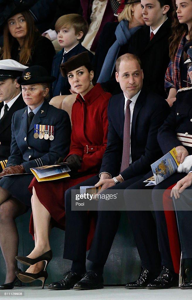 BRITAIN-ROYALS-RAF-CEREMONY : News Photo
