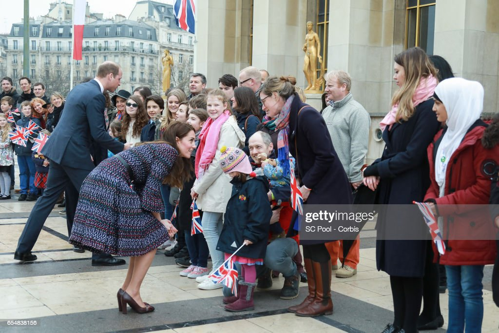 The Duke And Duchess Of Cambridge Visit Paris: Day Two : News Photo