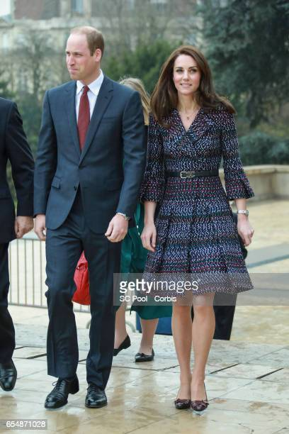 Britain's Catherine Duchess of Cambridge and Prince William Duke of Cambridge visit a 'Les Voisins in Action' event highlighting the strong ties...