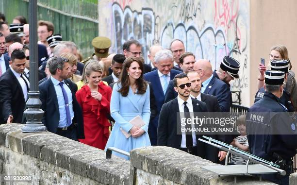 Britain's Catherine Duchess of Cambridge attends the Celebration of the 150th anniversary of the 1867 Treaty of London in Luxembourg on May 11 2017 /...