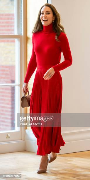 """Britain's Catherine, Duchess of Cambridge attends the launch of the Forward Trust charity's """"Taking Action on Addiction"""" campaign in central London..."""