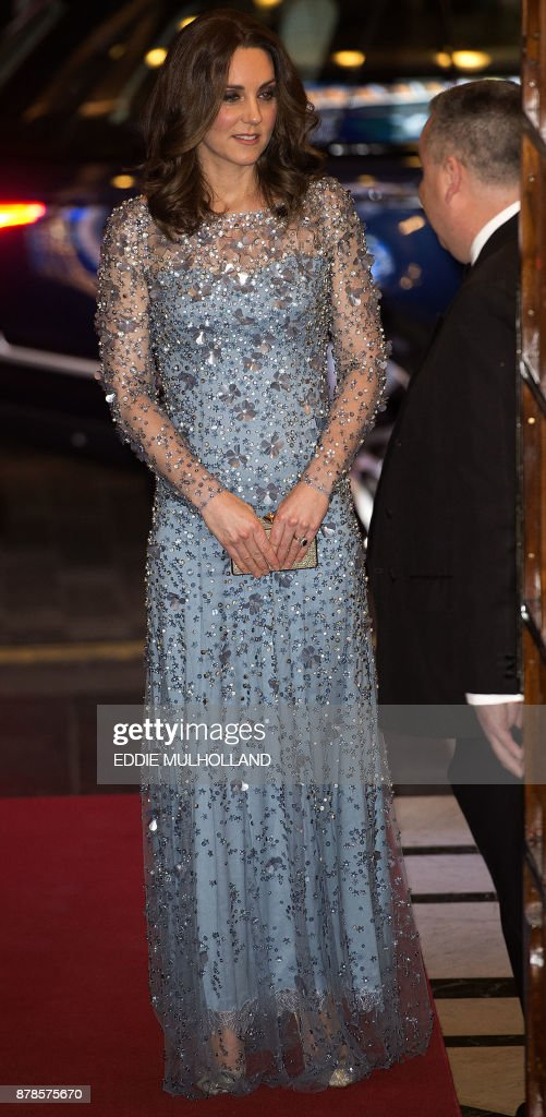 Britain's Catherine, Duchess of Cambridge attends the Royal Variety Performance at the Palladium Theatre in central London on November 24, 2017