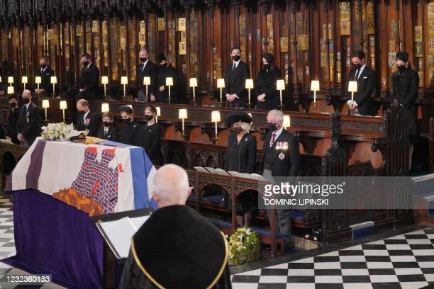 Britain's Catherine, Duchess of Cambridge, Britain's Prince William, Duke of Cambridge, Britain's Prince Edward, Earl of Wessex, Viscount Severn,...