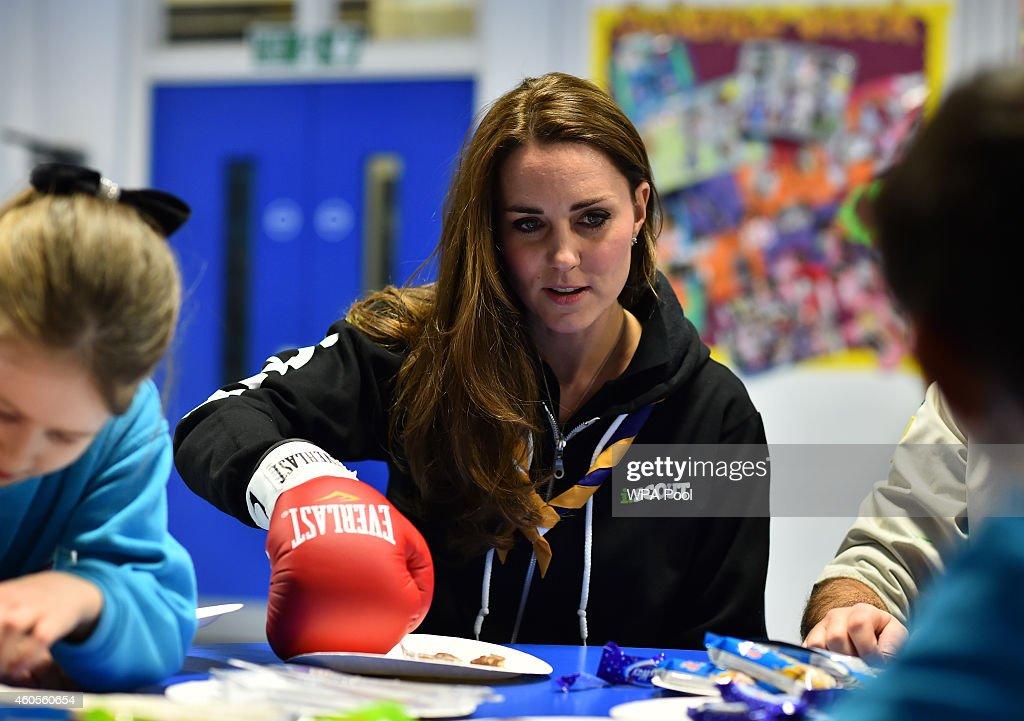 Catherine, Duchess of Cambridge, Visits 23rd Poplar Beaver Scout Colony : News Photo