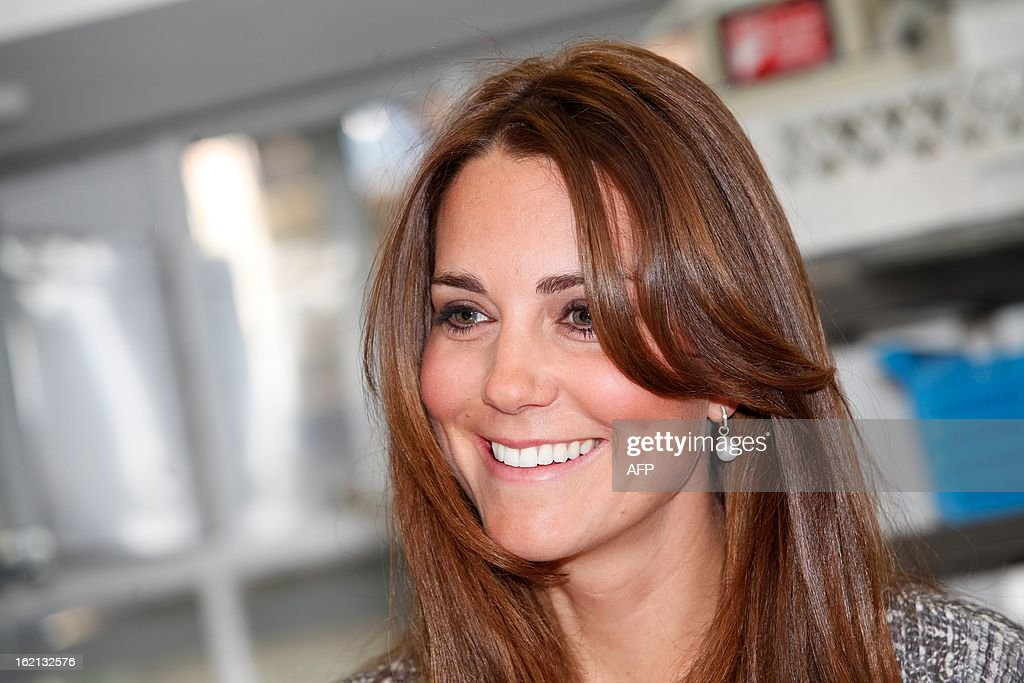 Britain's Catherine, Duchess of Cambridge looks on during a visit at Hope House charity in south London on February 19, 2013. The Duchess visited Hope House, an all-female rehabilitation centre which is is one of the projects run by her patronage, Action on Addiction.