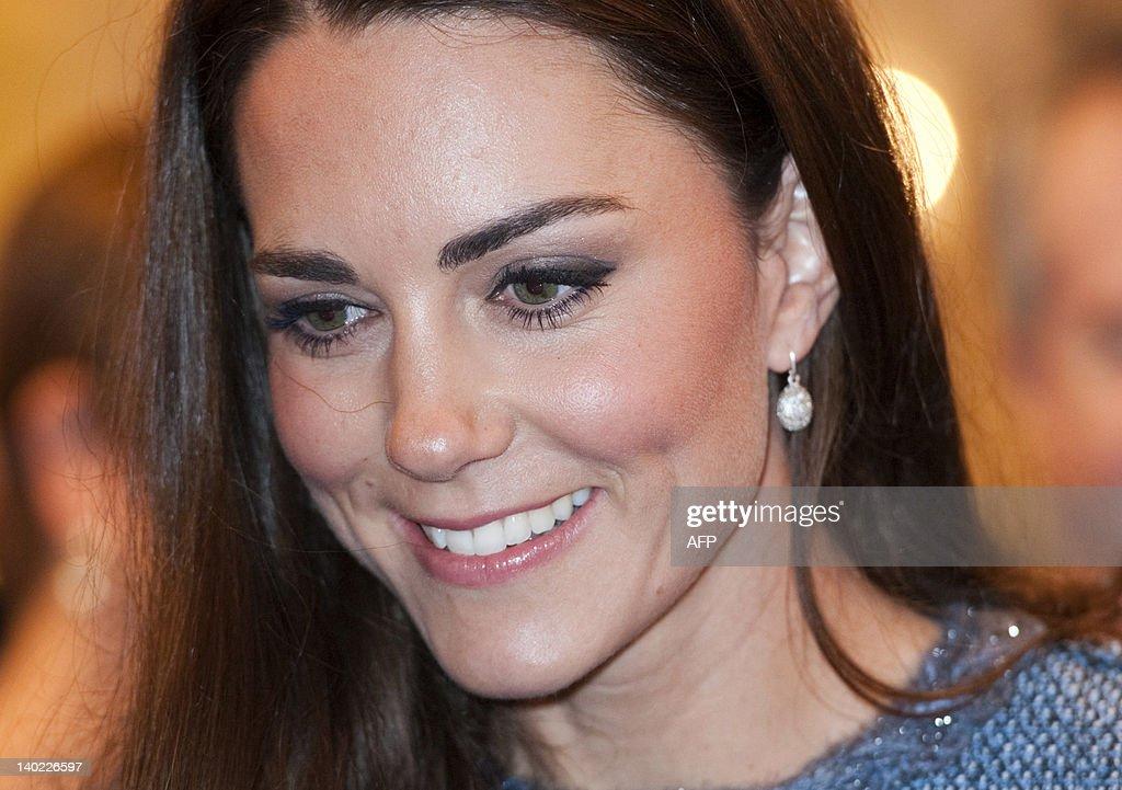 Britain's Catherine, Duchess of Cambridg : News Photo