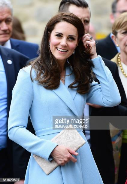 Britain's Catherine Duchess of Cambridge takes part in the Celebration of the 150th anniversary of the 1867 Treaty of London in Luxembourg on May 11...