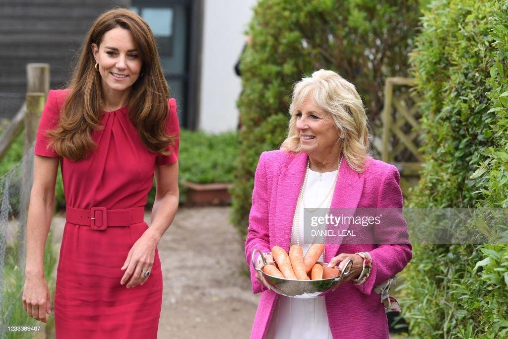 BRITAIN-US-G7-SUMMIT-ROYALS : News Photo