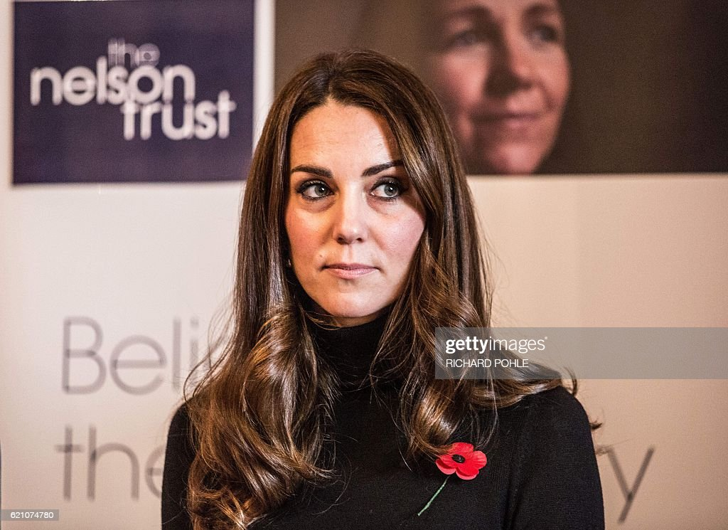 Britain's Catherine, Duchess of Cambridge, visits the Nelson trust women centre in Gloucester, western England on November 4, 2016. The Women's Centre was set up in 2010 and is designed to support women who have vulnerabilities, particularly those who have experienced abuse and trauma. / AFP / POOL / RICHARD