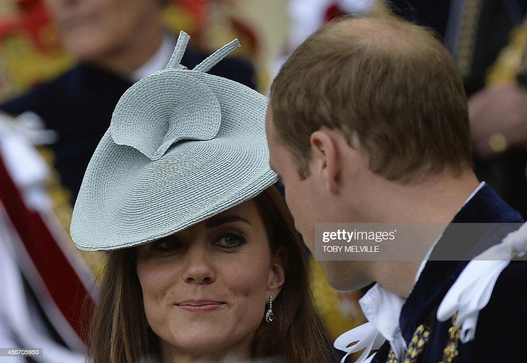 BRITAIN-ROYALS-CEREMONY : News Photo