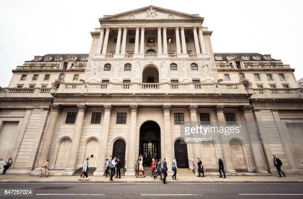 britain's central bank, the bank of england in the city of london - bank of england stock photos and pictures