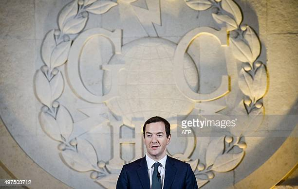 Britain's Chancellor of the Exchequer George Osborne delivers a speech on his spending review at Government Communication Headquarters in Cheltenham...