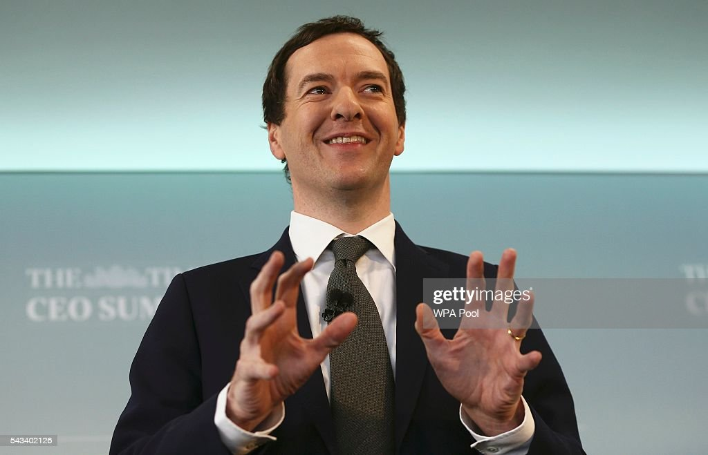Chancellor George Osborne Addresses The Times CEO Summit