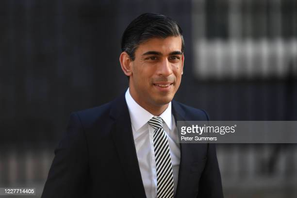 Britain's Chancellor Rishi Sunak arrives for a cabinet meeting the first since midMarch because of the coronavirus disease pandemic at the Foreign...