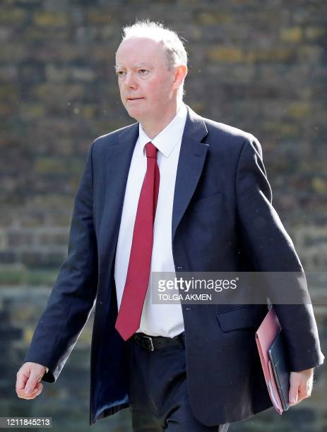 Britain's Chief Medical Officer for England Chris Whitty arrives at 10 Downing Street in central London on May 5 2020 for the daily novel coronavirus...
