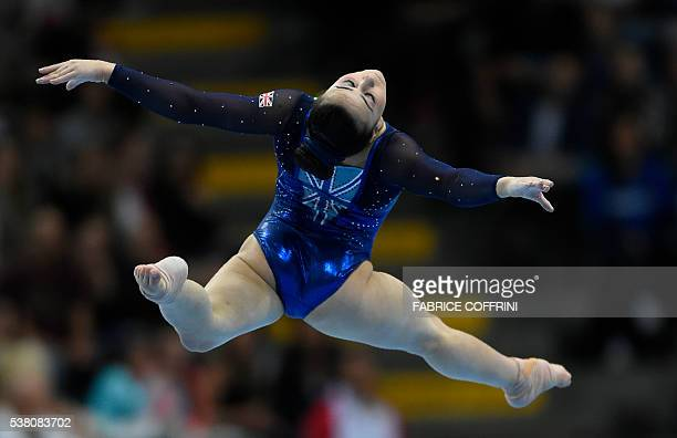 Britains Claudia Fragapane performs during the Womens Floor competition of the European Artistic Gymnastics Championships 2016 in Bern Switzerland on...