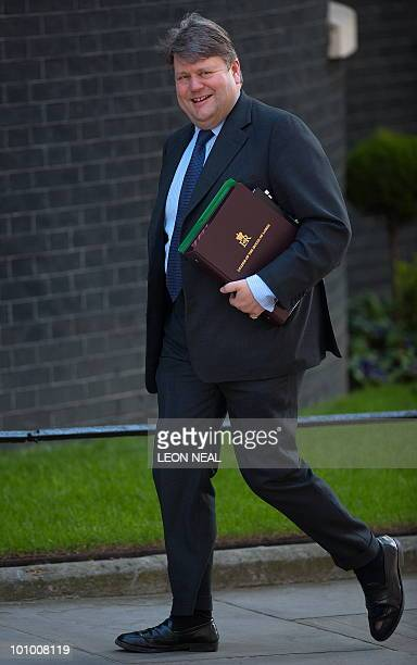 Britain's Conservative party's new Leader of the House of Lords Lord Thomas Strathclyde arrives to attend the first Cabinet meeting of the new...