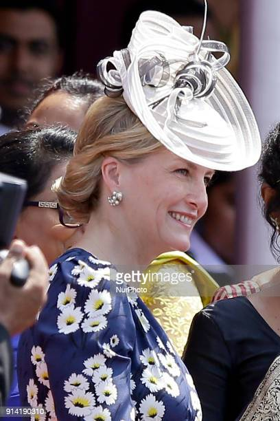 Britain's Countess of Wessex Sophie Rhys Jones attends the 70th Independence Day parade at the Galle Face green Colombo Sri Lanka on Sunday 4...
