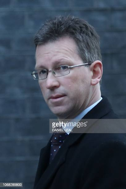 Britain's Culture Secretary Jeremy Wright attends the weekly meeting of the cabinet at 10 Downing Street in London on December 4 2018
